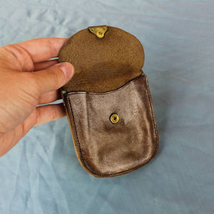 Vintage Brown Leather Coin Purse Wallet